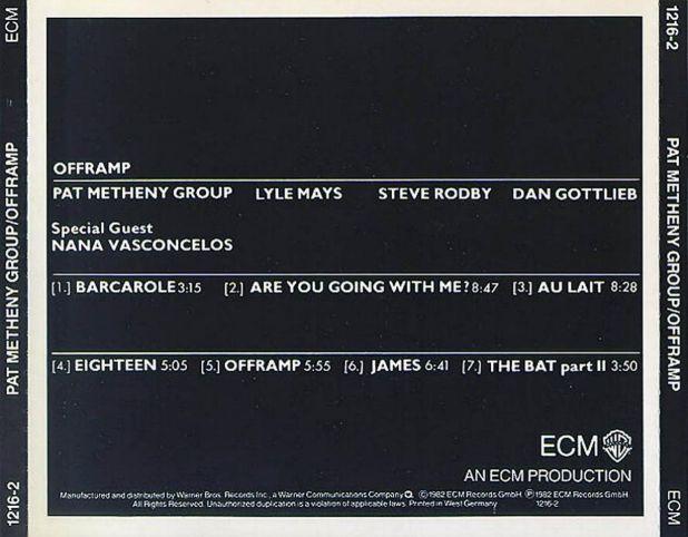 Au Lait, by the Pat Metheny Group – The Music Aficionado