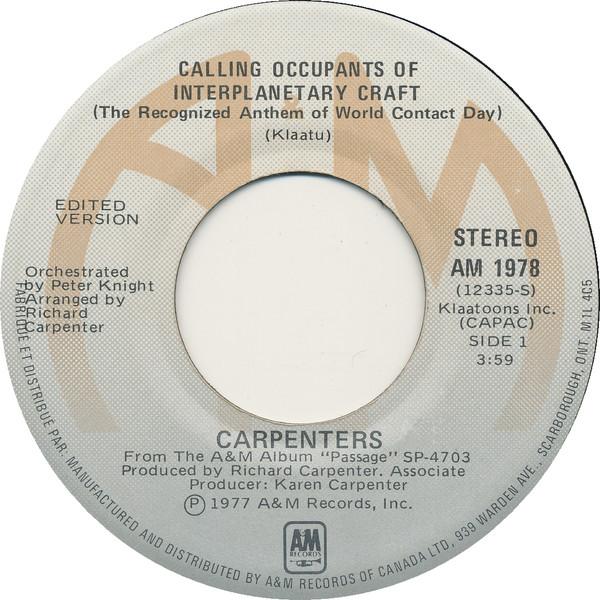 Calling Occupants Carpenters Single